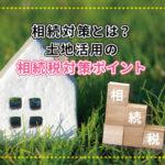 芝の上に模型の家が置いてある